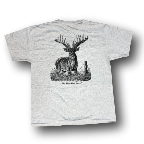 "Jim Tostrud's ""Hot Wire Buck"" T-Shirt - Deer Shack"