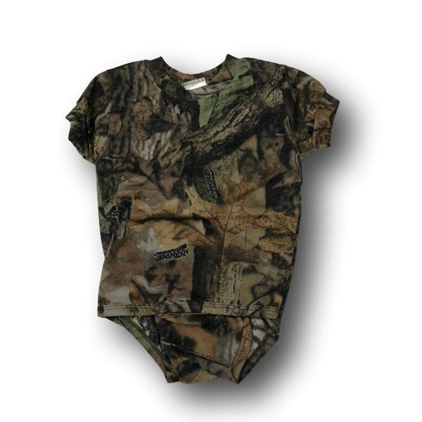 Short Sleeve Little Hunter Camo Baby Unisex Onesie Bodysuit - 12-18 Months - Deer Shack