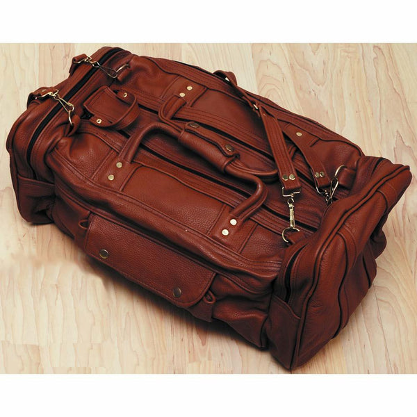 Leather Duffle Bag - Zipper Travel Tote - Weekend Bag for Men & Women - Large - Medium - Small - Black - Brown - Tan - Deer Shack