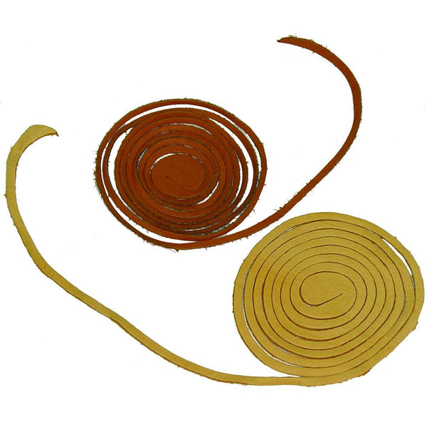 Spiral Leather Lace Cord - Deerskin - Suede - Grain Cowhide - Deer Shack