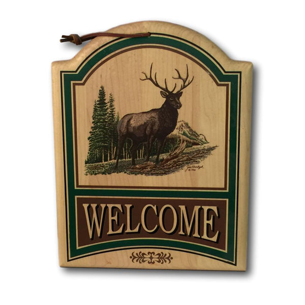 Elk Welcome Sign - Deer Shack