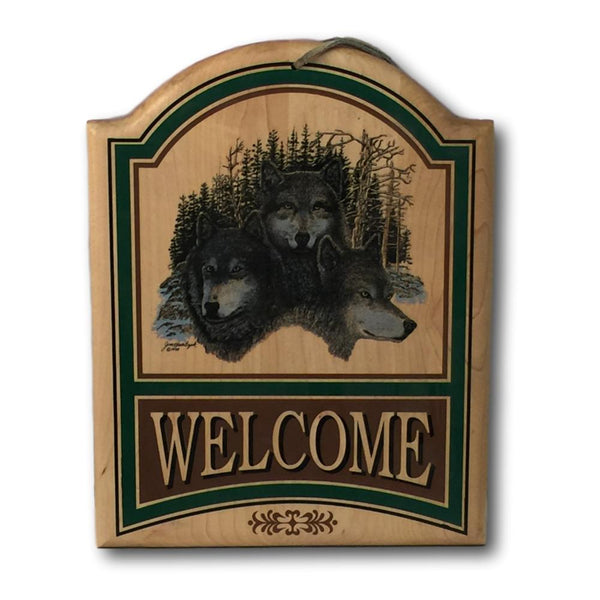 Wolf Welcome Sign - Deer Shack