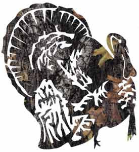 Turkey Camo Decal - Deer Shack
