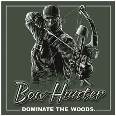 Bow Hunter Dominate the Woods Decal