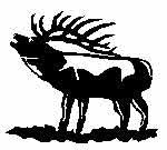 Sportsman's White Decal - Elk - Deer Shack