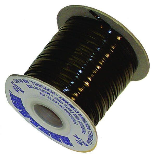 "Vinyl Lace Cord Spool - Black - Brown - 100 Yards x 3/32"" - 2500 Yards x 3/32"" - Deer Shack"