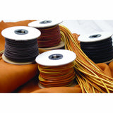 Black, Brown and Chieftain Latigo Lace 50 ft Spools - Deer Shack