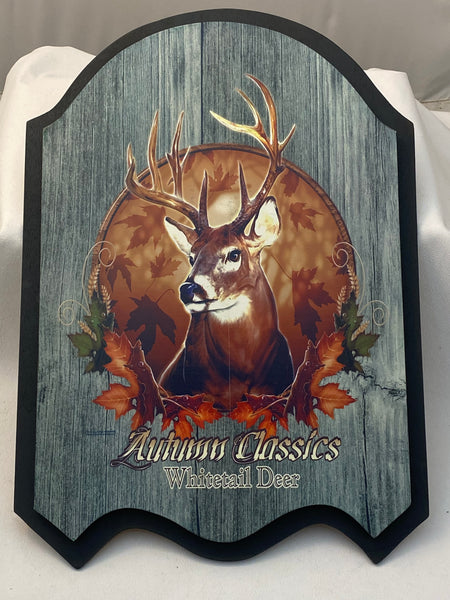 Autumn Classic Whitetail Deer Plaque - Deer Shack