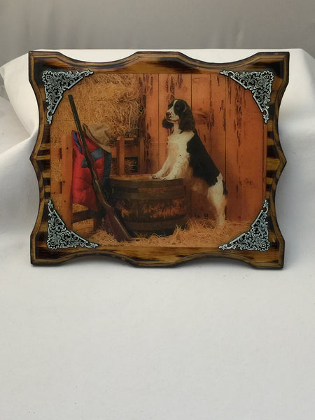 Springer Spaniel Plaque - Deer Shack