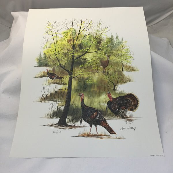 "Joe Lathrop Limited Edition Art Print ""Spring Gobblers"" - Deer Shack"