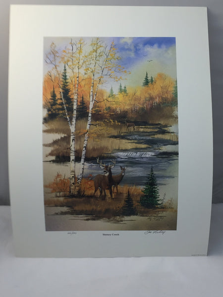 "Joe Lathrop Limited Edition Art Prints ""Stoney Creek"" - Deer Shack"