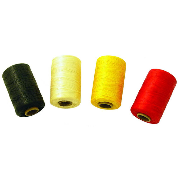 Simulated Sinew 300 Yard Spools - Red - Yellow - White - Black - Leather Craft Hand Lacing Supplies - Deer Shack
