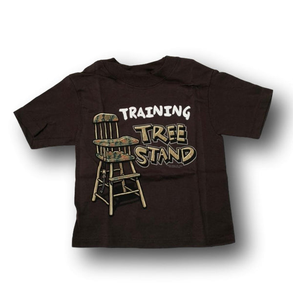 """Training Tree Stand"" Short Sleeve Little Hunter T-shirt - 2T - 4T - Deer Shack"