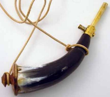 Powder Horn with Brass EZ Loader