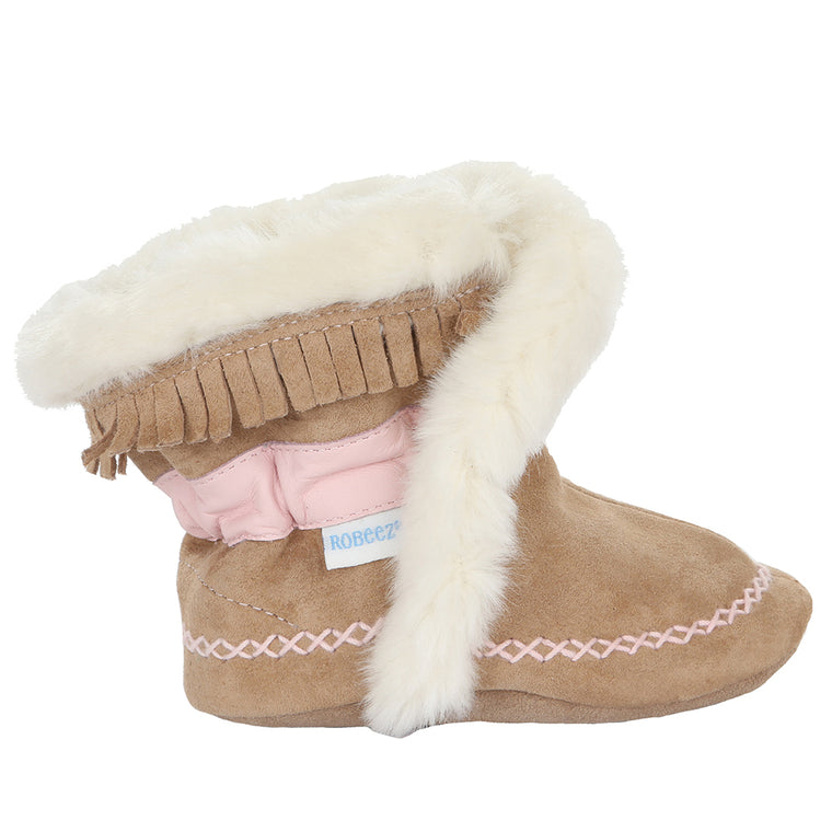Cozy and Cute Baby Moccasins -Tribal Tan