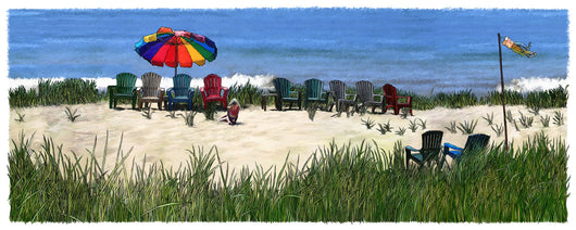 Quiet Beach Giclee