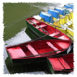Red Rowboats Giclee