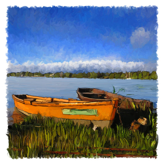 Orange Dinghy Giclee
