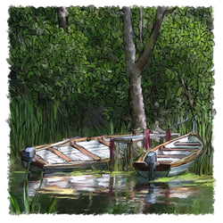 Dinghies In The Woods Giclee