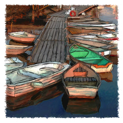 Dinghy Dock Giclee