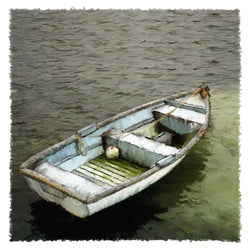 White Dinghy Giclee