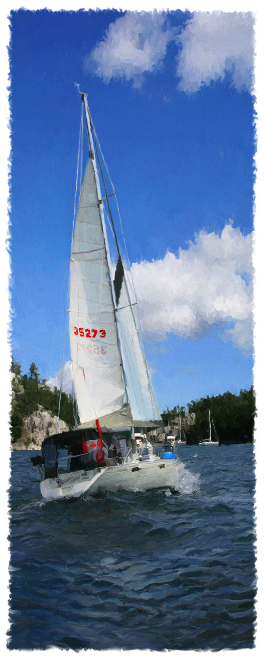 Downbeat Sailboat Giclee
