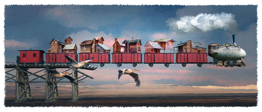Blimp Train Giclee