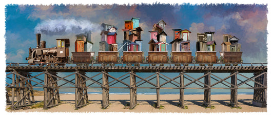 Outhouse Train Giclee