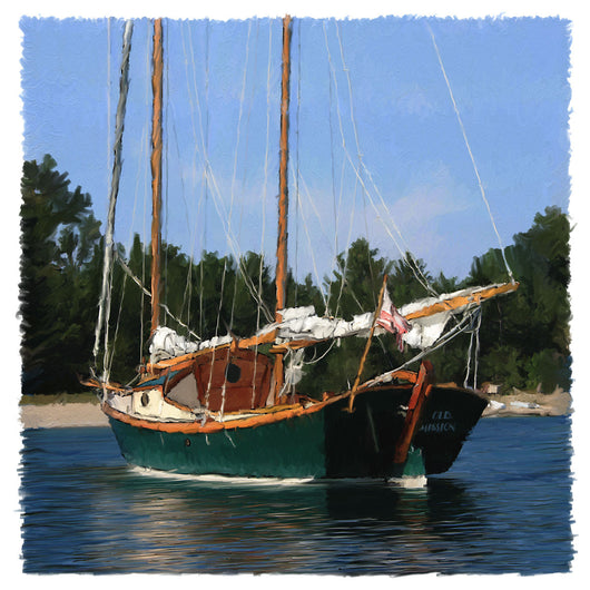 Old Mission Sailboat Giclee