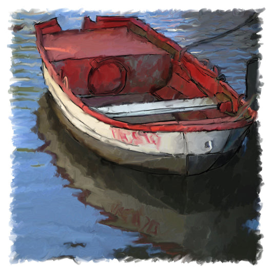 Red White Dinghy Giclee