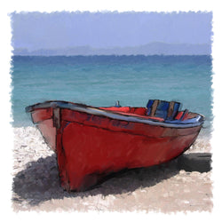 Beached Dinghy Giclee