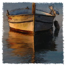 Dinghy At Night Giclee