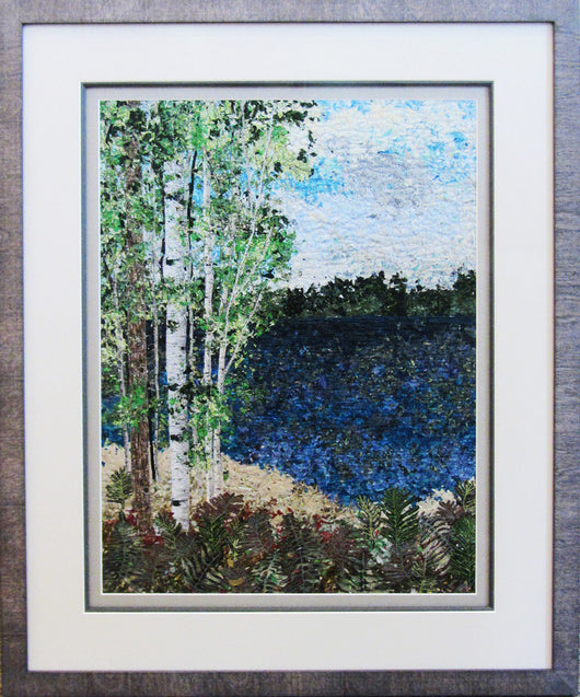 Lake Impressionistic Framed