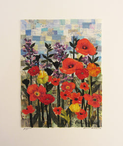 Poppies Mosaic Vertical