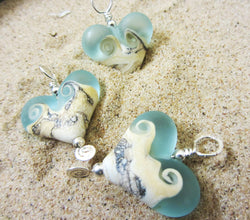 Catch A Wave Heart Pendant