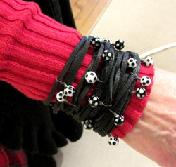 Leather and Beads Spaghetti Bracelet