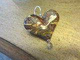 'Wet Sands' Heart Pendant