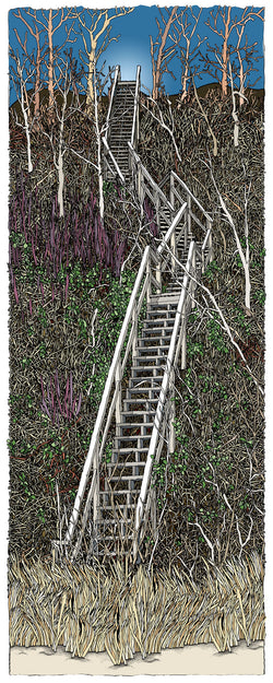 Autumn Stairs Giclee