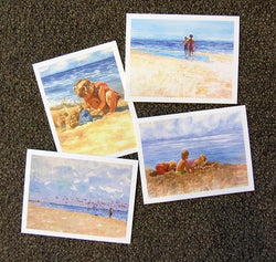 Beach Kids Notecards