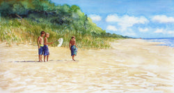 Beach Bug Catchers Giclee