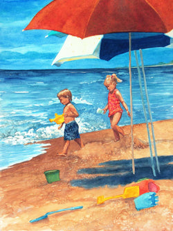 Beach Day Play Giclee