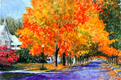 Eleventh Street Maples Giclee