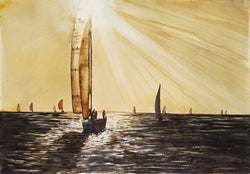 The Evening Sail I Giclee