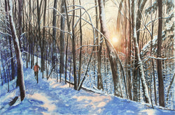 Twilight Run In Sanctuary Woods Giclee