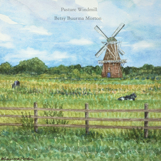 Pasture Windmill Giclee