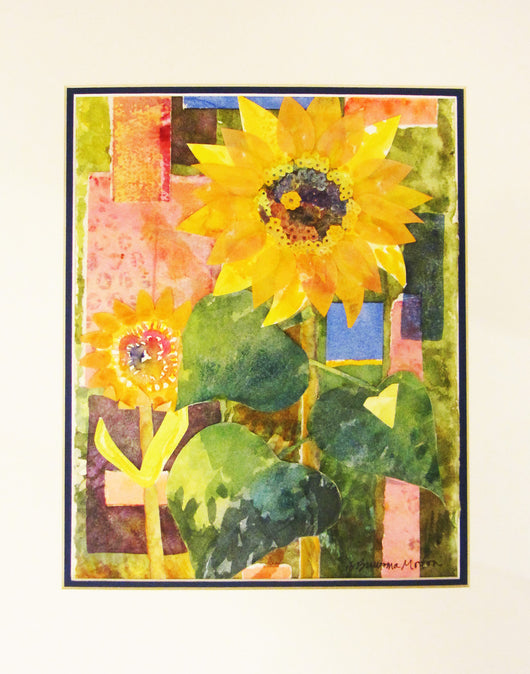 Sunflower Watercolor Collage