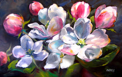 Apple Blossoms Original Oil Painting