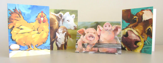 Barnyard Buddies II Notecards
