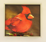 'Big Red' Cardinal Framed Giclee