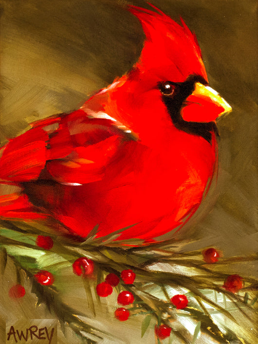 'Big Red' Cardinal Giclee